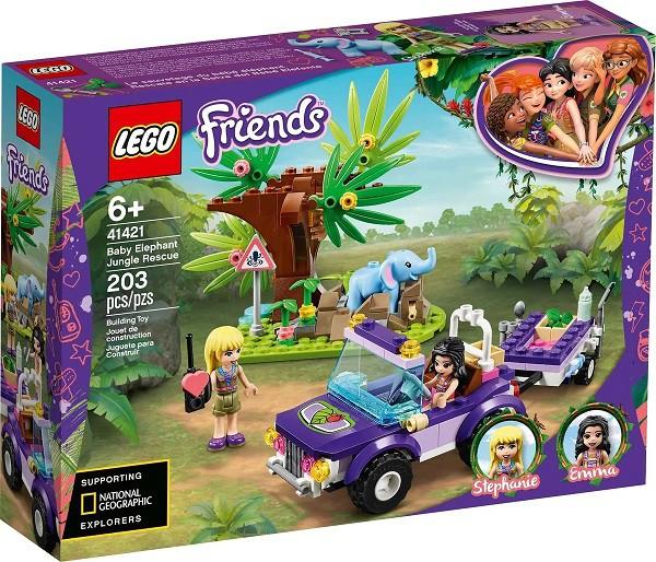 Lego 41421 Friends Resgate Na Selva Do Filhote De Elefante – 203 peças