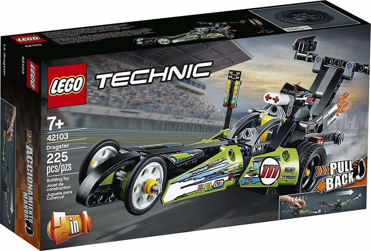 Lego 42103 Technic – Dragster 2 em 1 – 225 peças