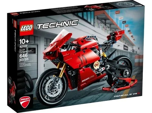 Lego 42107 Technic - Ducati Panigale V4 R – 646 peças