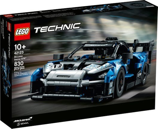 Lego 42123 Technic – McLaren Senna GTR – 830 peças