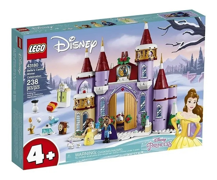 Lego 43180 Princesas Disney - Celebração De Inverno No Castelo Da Bela e a Fera – 238 peças