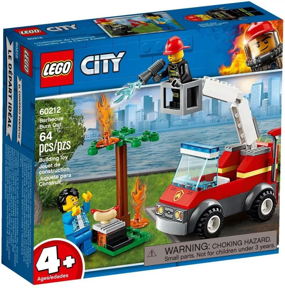 Lego 60212 City Bombeiro Extinção de Fogo No Churrasco – 64 peças