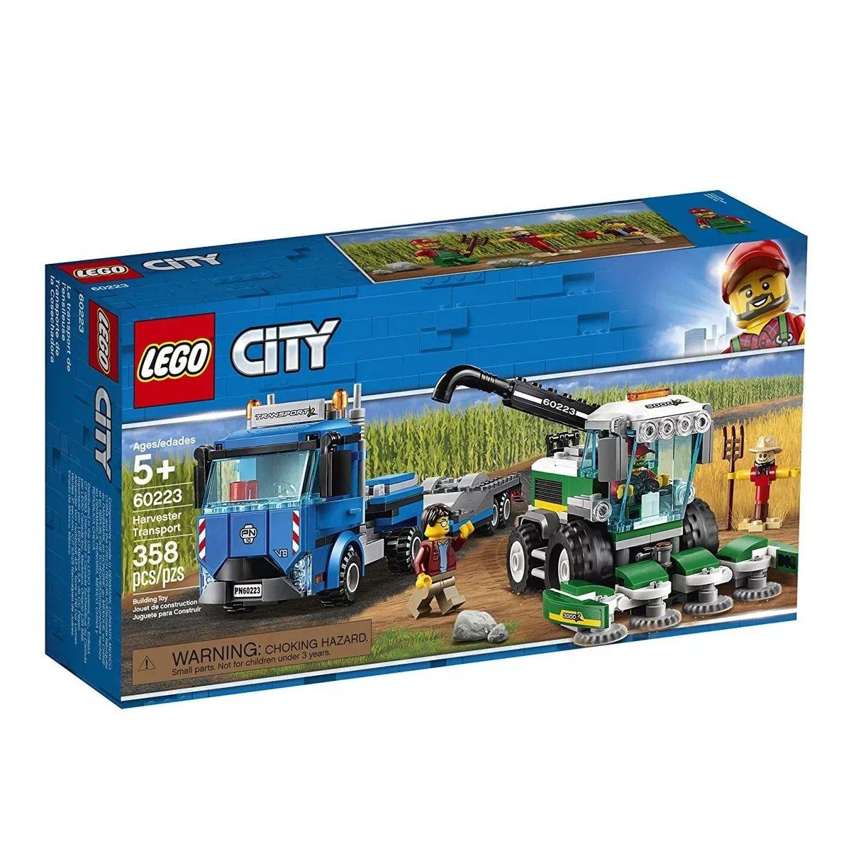 Lego 60223 City - Caminhão Transporte de Colheitadeira  -358 peças