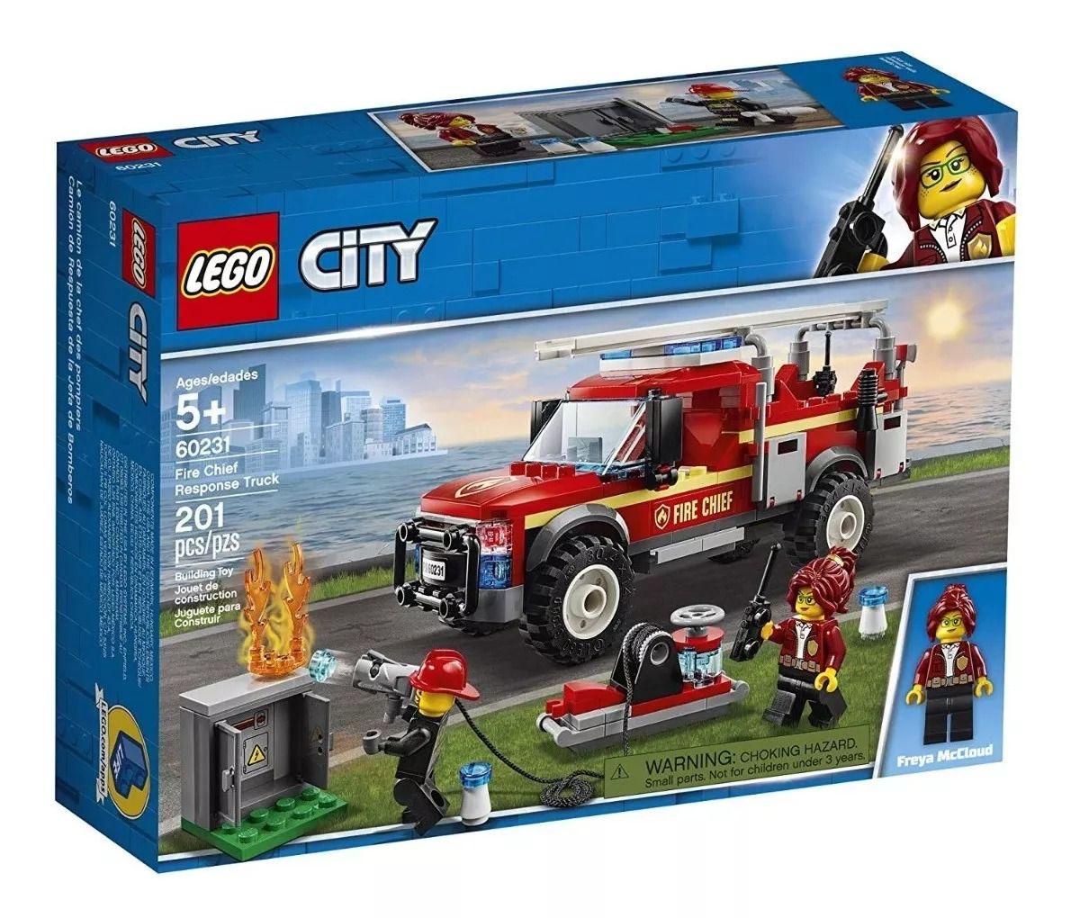 Lego 60231 City Caminhão Do Chefe dos Bombeiros- 201 peças