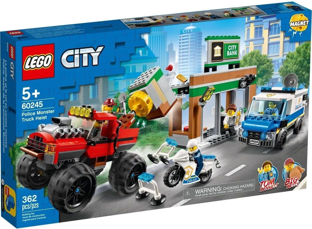 Lego 60245 City – Caminhão Monstro Para Assalto Banco – 362 peças