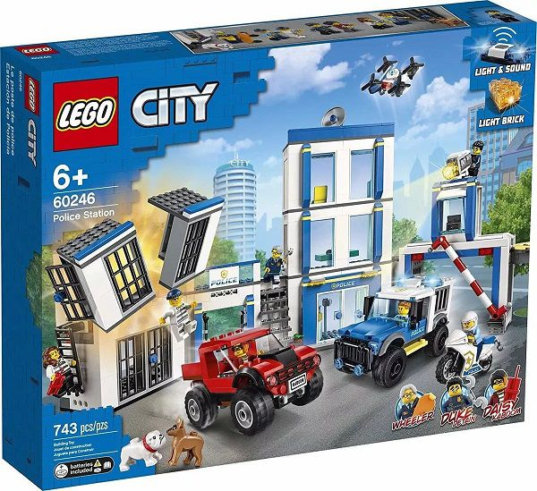 Lego 60246 City Delegacia De Policia e 2 veiculos – Som e Luz  – 743 peças