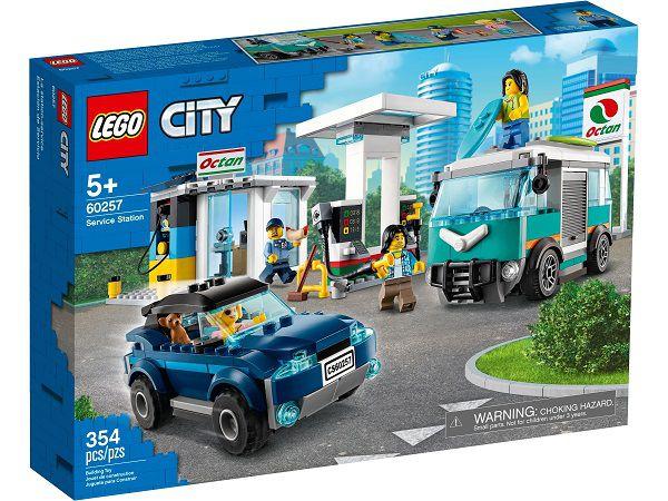 Lego 60257 City Posto De Gasolina C/ 2 Veiculos – 354 peças