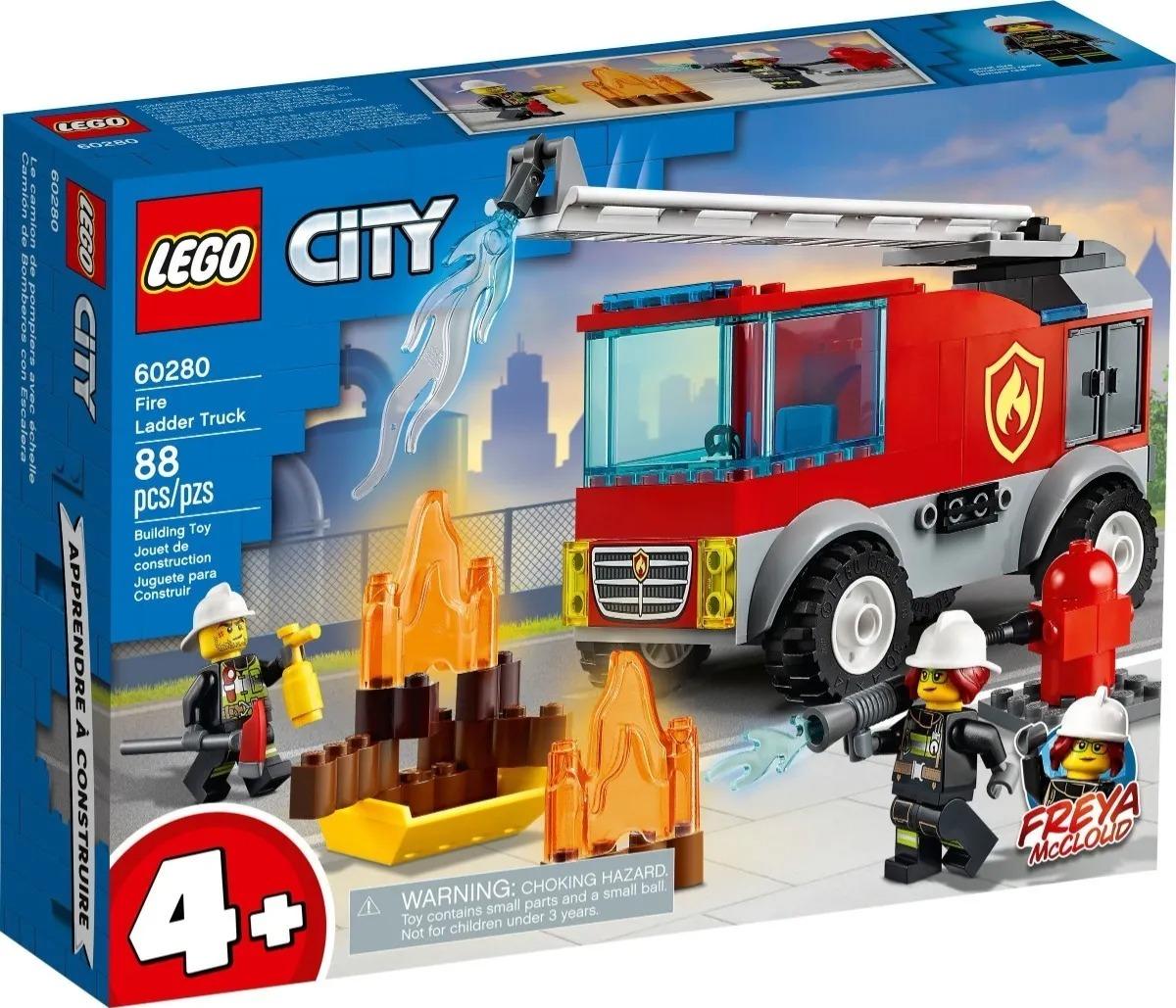 Lego 60280 City - Caminhão Dos Bombeiros Com Escada – 88 peças