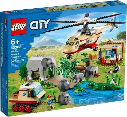 Lego 60302 City - Operação Para Salvar Animais Selvagens   525 peças