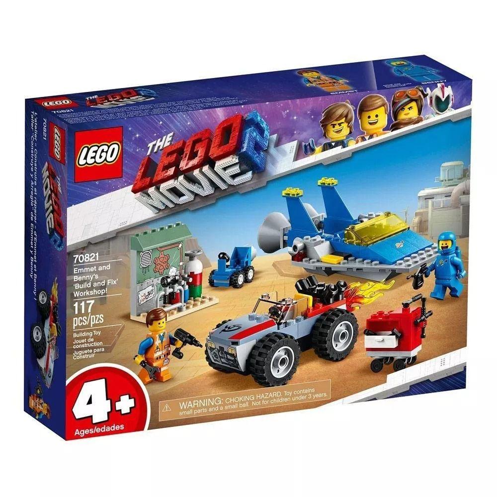 Lego 70821 Movie - O Filme 2 - Oficina Constroi E Conserta De Emmet E Benny – 117 peças