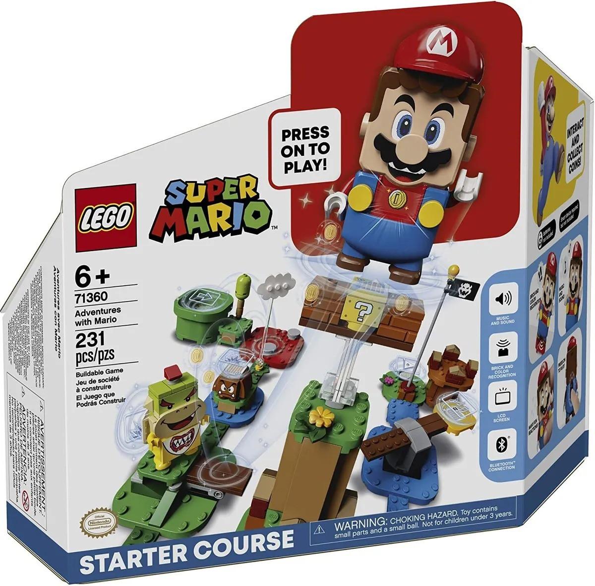 Lego 71360 Super Mario Aventuras De Mario Inicio – LCD, Bluetooth e Som – 231 peças