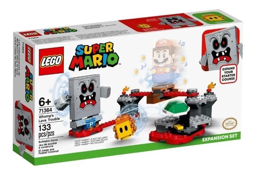 Lego 71364 Super Mario Reves Das Lavas Do Esmagao Expansão – 133 peças