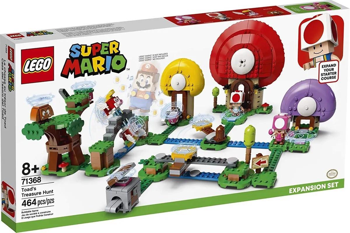 Lego 71368 Super Mario Caça Ao Tesouro De Toad Expansao – 464 peças