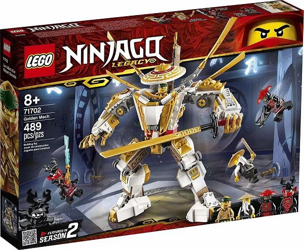 Lego 71702 Ninjago Robô Dourado – 489 peças