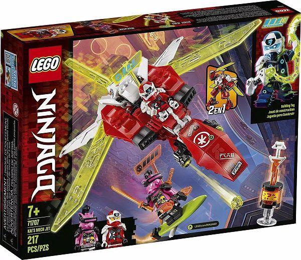 Lego 71707 Ninjago - O Jato Robô Do Kai – 217 peças