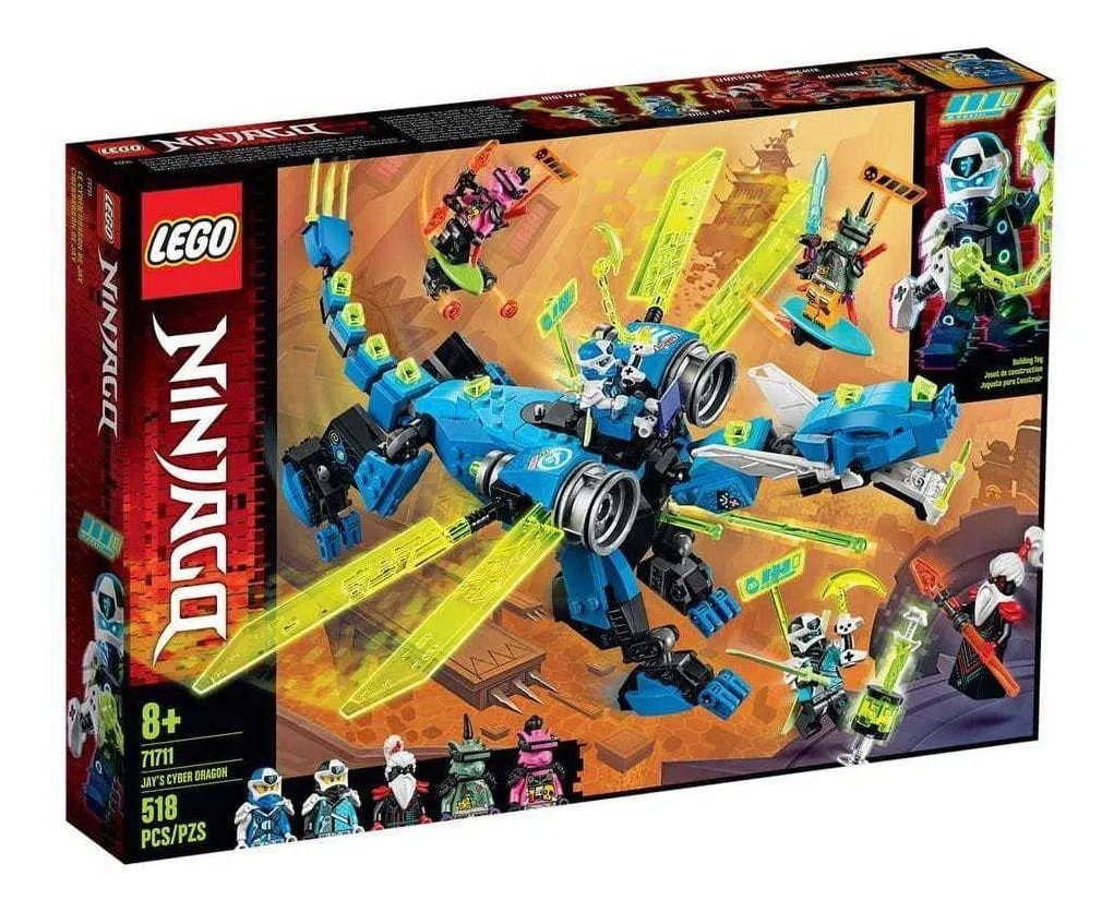Lego 71711 Ninjago - O Ciber Dragão Do Jay – 518 peças