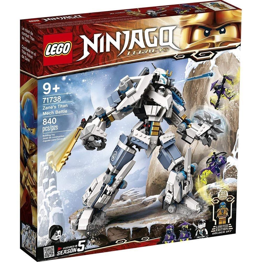 Lego 71738 Ninjago - o Combate do Robô Titã de Zane – 840 peças