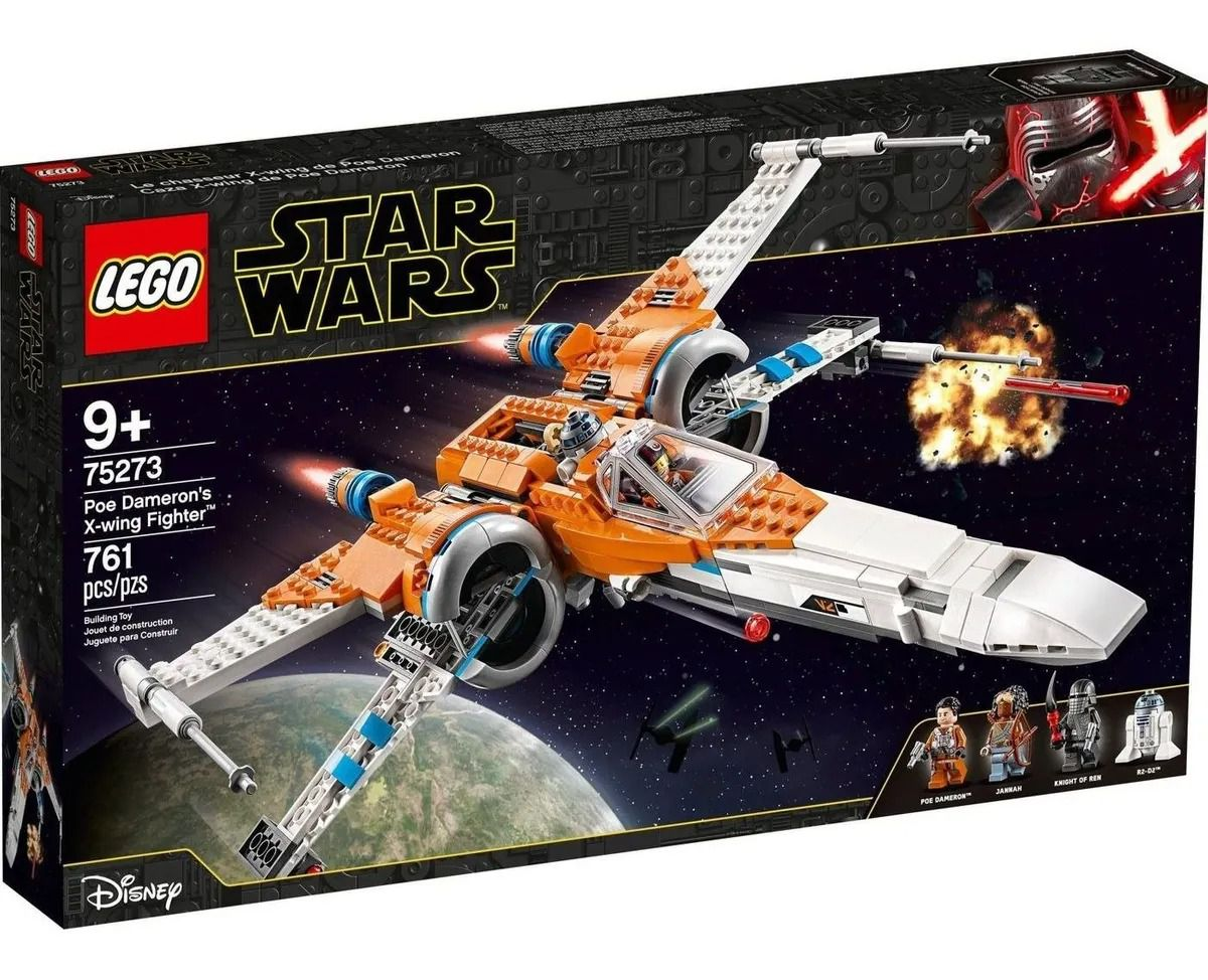 Lego 75273 Star Wars X-wing Fighter De Poe Dameron – 761 peças
