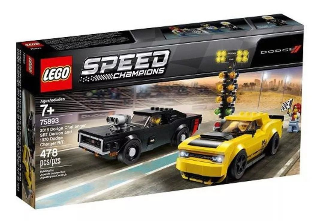 Lego 75893 Speed Champions Dodge Srt Demon 2018 E Dodge R/T 1970  – 478 peças