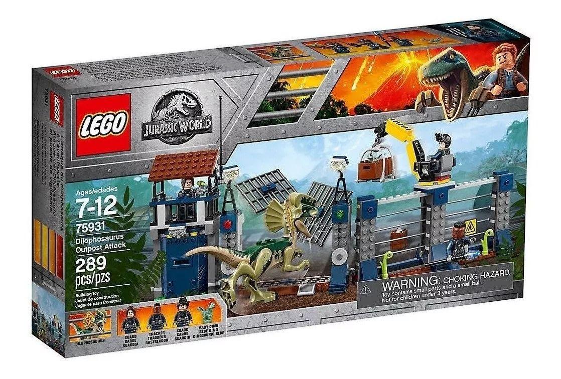 Lego 75931 Jurassic World Ataque Dilofossauro Posto Avançado – 289 peças