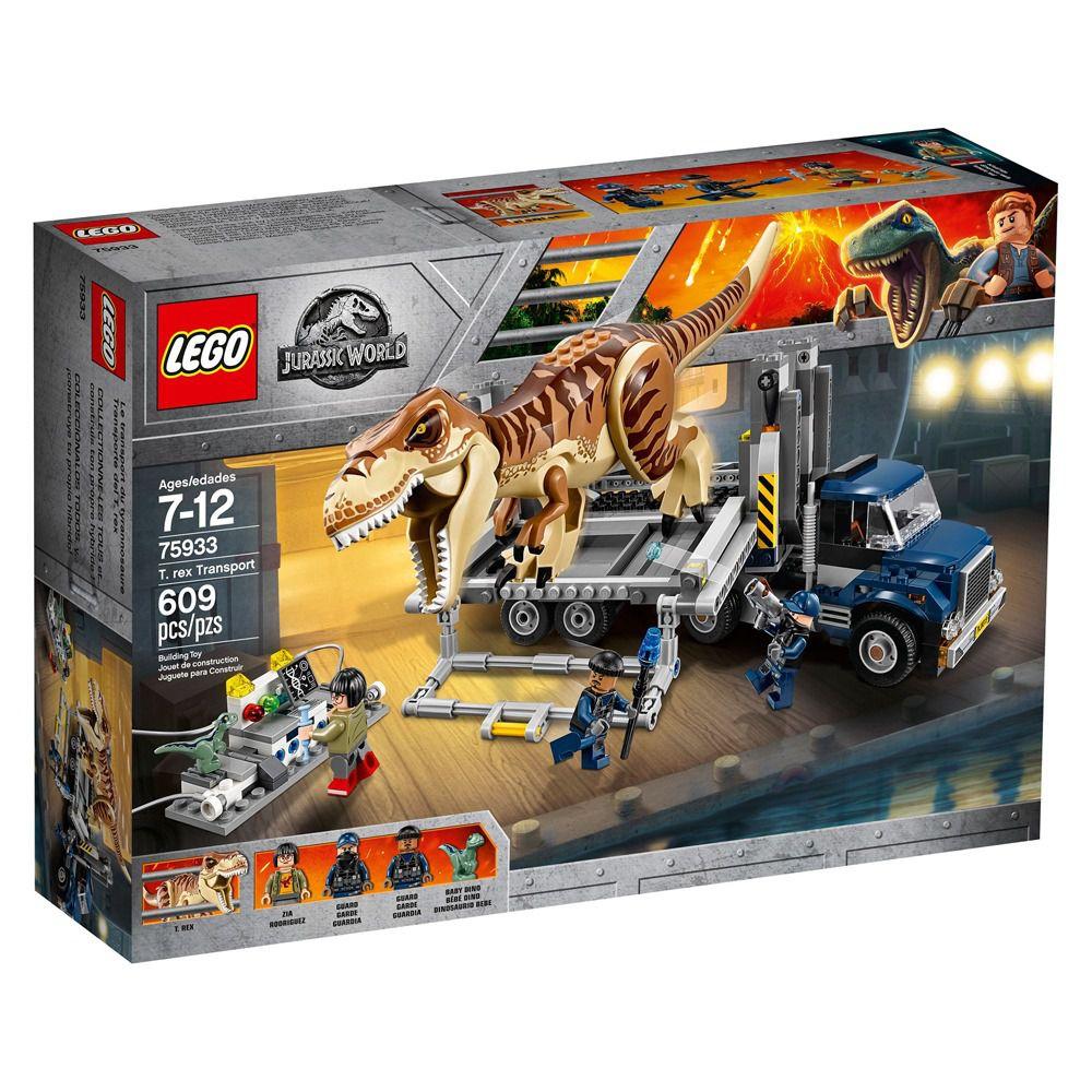 Lego 75933 Jurrasic World Transporte de T-Rex – 609 peças
