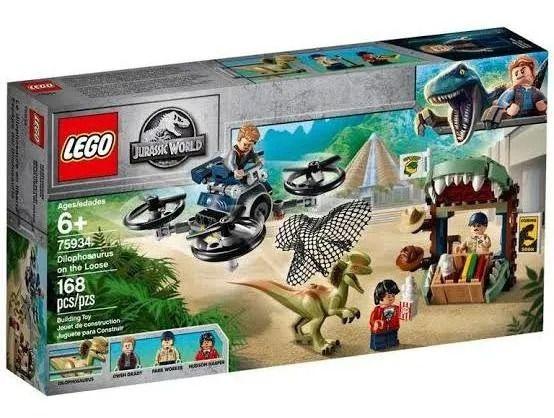 Lego 75934 Jurassic World - Dilophosaurus À Solta – 168 peças