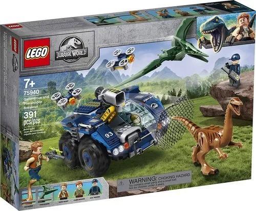 Lego 75940 Jurassic World Gallimimus E Pteranodonte Missão de Recaptura – 391 peças