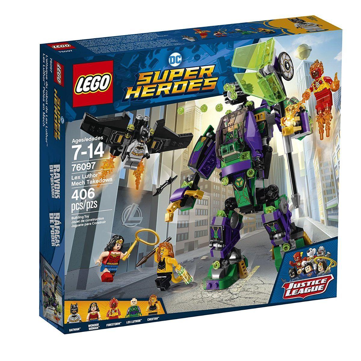 Lego 76097 Super Heroes Liga da Justiça - Robô do Lex Luthor -406 peças