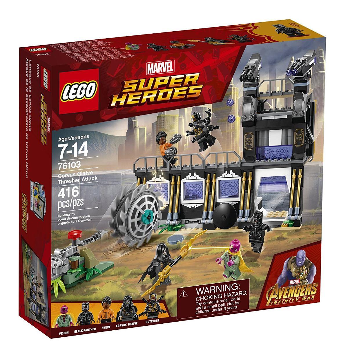 Lego 76103 Vingadores - Ataque Avassalador de Corvus Glaive - 416 peças