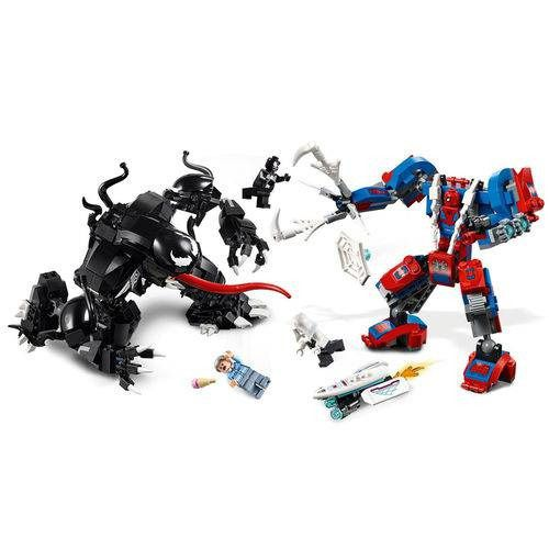 Lego 76115 Homem Aranha – Spider Man Aranha Robô Vs Venom – 604 peças  - Doce Diversão