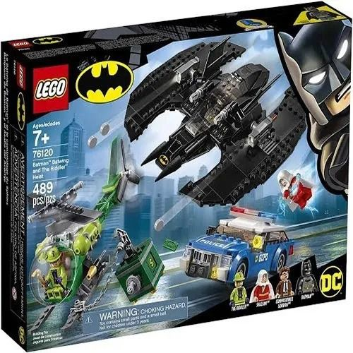 Lego 76120 - Batman Batwing E O Assalto Do Riddler Helicóptero – 489 peças