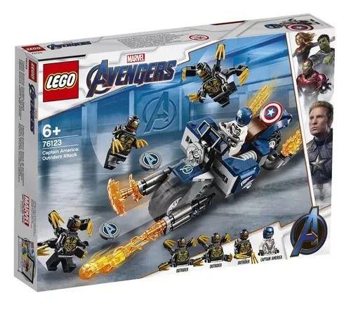 Lego 76123 Vingadores Ultimato – Capitão América Moto Ataque Outriders – 167 peças