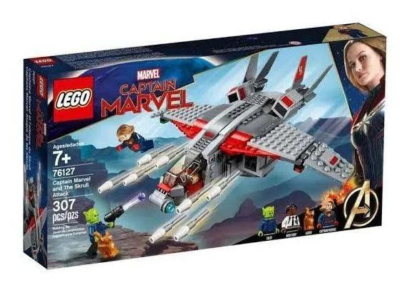 Lego 76127 Marvel - Capitã Marvel E O Jato Ataque Skrull  - 307 peças