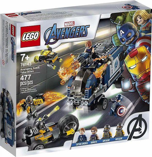 Lego 76143 Super Heroes Vingadores - Ataque de Caminhão Dos Vingadores – 477 peças
