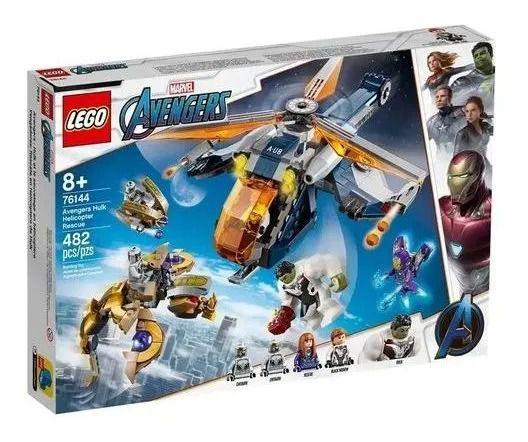 Lego 76144 Marvel Resgate Helicóptero Hulk Dos Vingadores – 482 peças