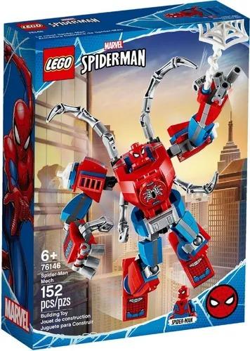 Lego 76146 Marvel Super Heroes Robô Spider-man - 152 Peças