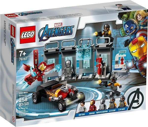 Lego 76167 Vingadores Depósito de Armaduras de Iron Man  258 peças