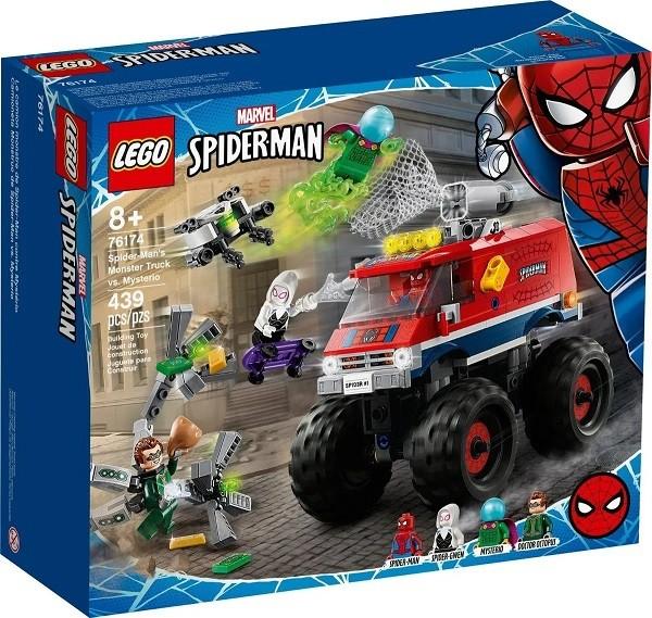 Lego 76174  Marvel - Caminhão Gigante Homem Aranha Vs Mysterio  439 peças