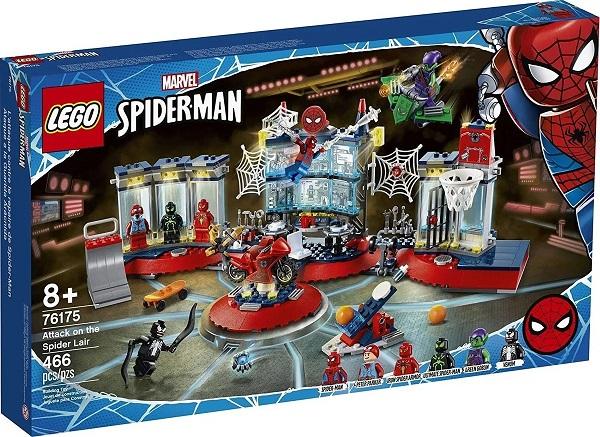 Lego 76175 SpiderMan- Ataque Ao Abrigo Secreto do Homem Aranha – 466 peças