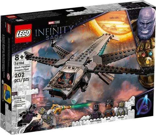 Lego 76186 Marvel Vingadores - Avião Dragão Do Pantera Negra  202 peças