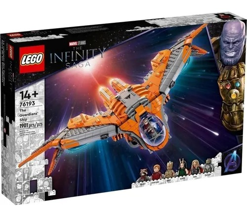 Lego 76193 Marvel Vingadores - A Nave Dos Guardiões Da Galaxia  1901 peças