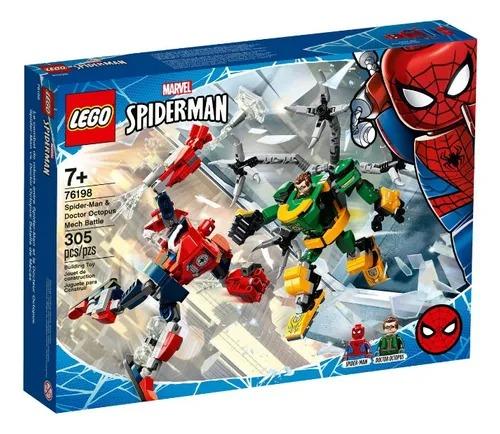 Lego 76198 Combate Robos Spider Man Vs. Doctor Octopus - 305 Peças