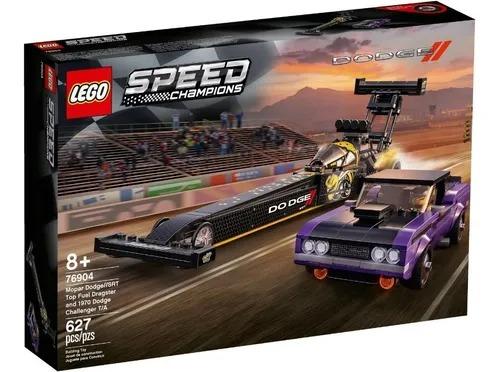 Lego 76904 Speed  Dragster Mopar Dodge SRT Top Fuel And Dodge Challenger 1970  627 peças