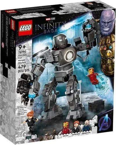 Lego Marvel 76190  - Iron Man:  Robo Armadura A Ameaça De Iron Monger  479 Peças