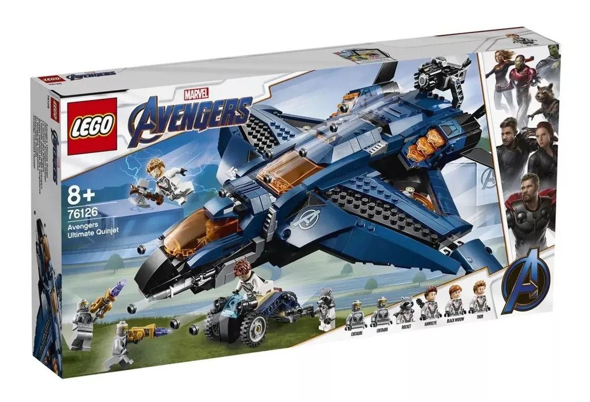 Lego 76126 Marvel Vingadores Ultimato – Quinjet Avengers – 838 peças