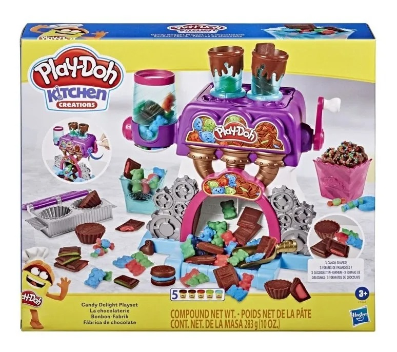 Massinha Play Doh Conjunto Fábrica De Chocolate - Hasbro
