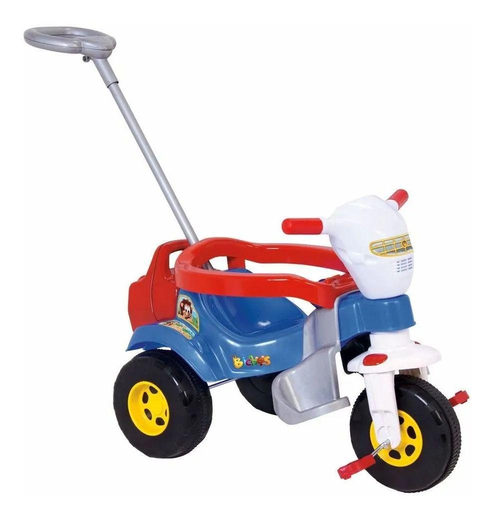 Motoca Triciclo Tico Tico Bichos Azul C/ Som e Luz -Magic Toys