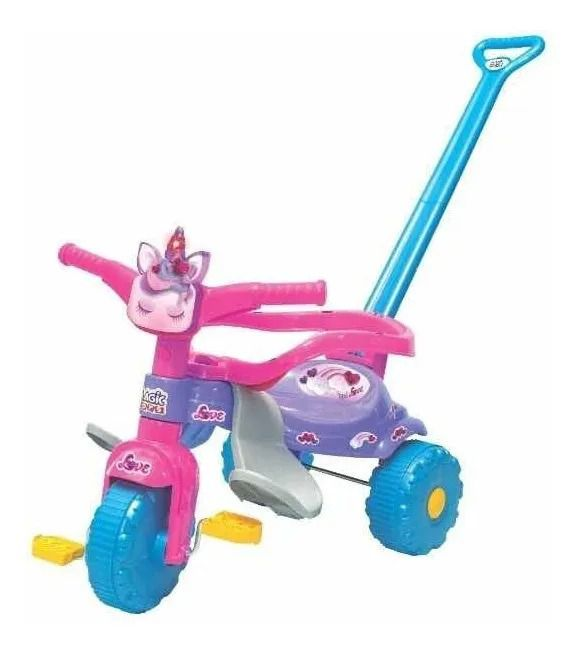 Motoca Triciclo Tico Tico Unicornio Love C/ Luz -Magic Toys