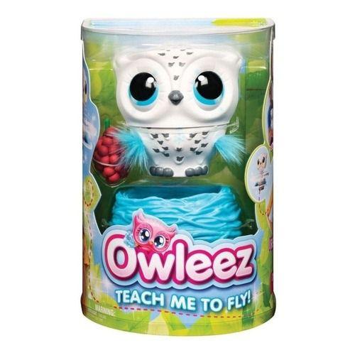 Owleez Coruja Interativa Branco – Carregamento USB - Voa De Verdade – Sunny