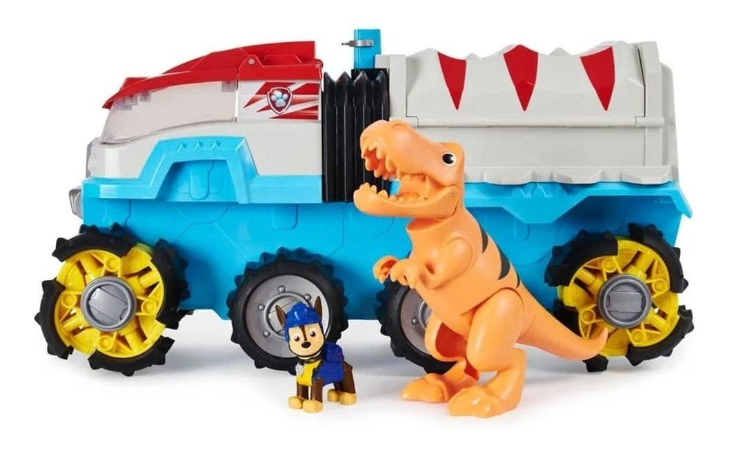 Patrulha Canina Dino Caminhão Motorizado 45 cm Luxo Dino Rescue - Sunny